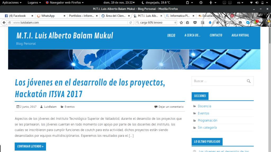 Blog del Profesor Luis Balam