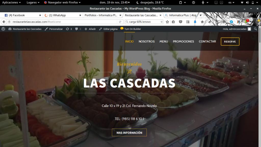 Restaurante las Cascadas de Valladolid