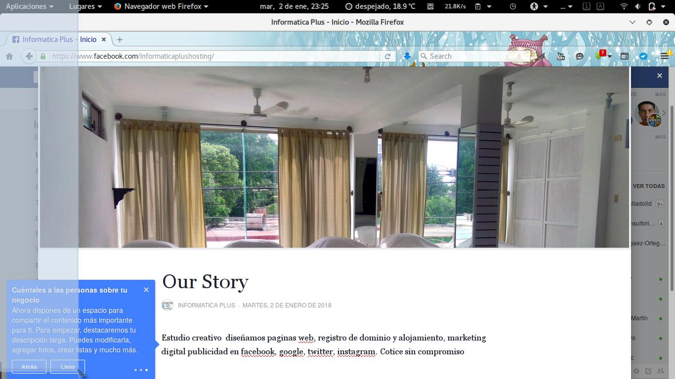 Facebook Stories Historias en tu Fanpage pagina de Facebook