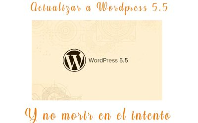 Actualizar a WordPress 5.5 requisitos